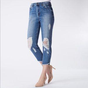 NWT raw hem Kensie jeans